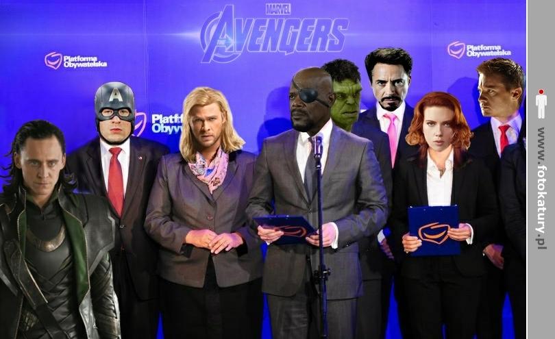 A gdyby tak w PO rządziło Avengers? Zagłosowalibyście? - Moniuszko Pierwszy