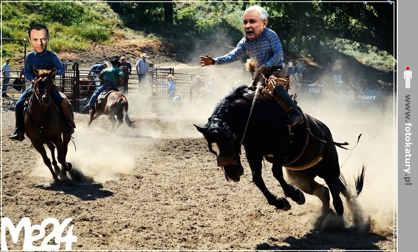 Widać, nawet konie wiedzą na kogo można liczyć (Tusk vs Kaczyński) - Me24