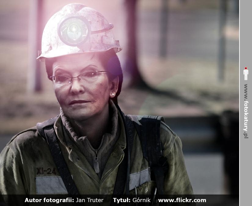 Premier Kopacz jako górnik  - Bilecik_free_2